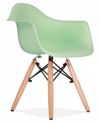Eames Inspired Junior DAW Chair With A Peppermint Seat Front Angle