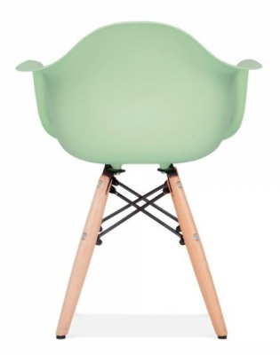 Eames Inspired Junior DAW Chair With A Peppermint Seat Rear View