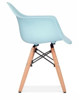 Eames Inpired Junior DAW Chairs With A Light Blue Seat Side View