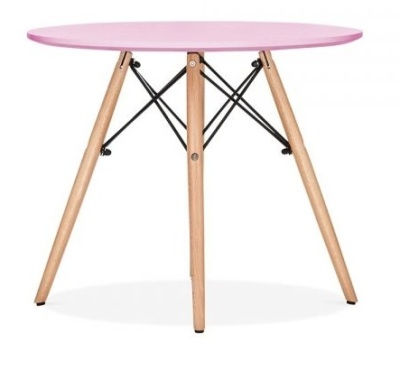 Eames Inspired Juniorv DSW Table With A Pink Top 2