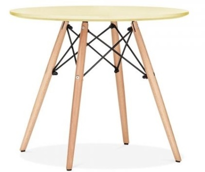 Eames Junior Table With A Yellow Top