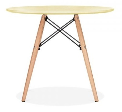 Eames Inspired Junior Tabl;e With A Yellow Table