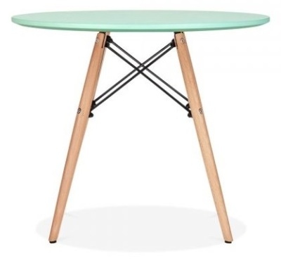 Eames Inpired DSW Table With A Lime Green Top 2