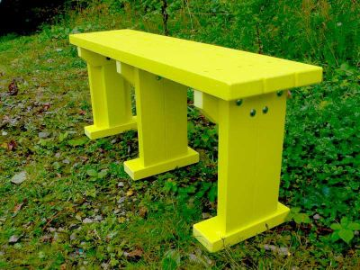 Westpoint Bench Without Back In Yellow