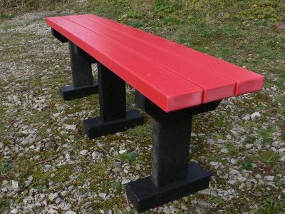 Westoint T Bench Red Slats