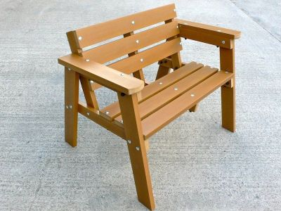 2 Seater Bench Recycled Plastic Wood Wb