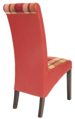 Motherwell Leather Dining Chair Rear View