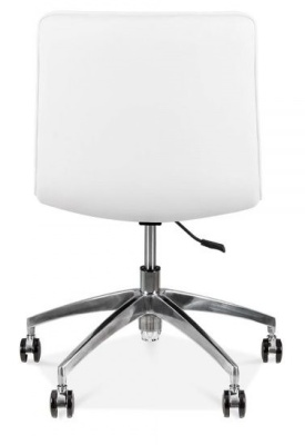 Deco White Leather PU Chair Rear View