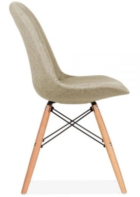 Eames Inspred Upholstered Dsw Chair Side View