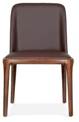 Luxo Leather Dining Chair Front Shot