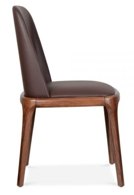 Luxo Leather Dining Chairs Side View