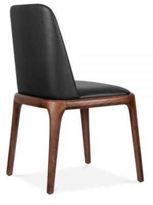 Luxo Leather Dining Chair Rear A Ngle