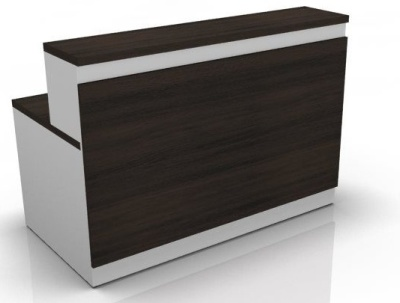 Visage Reception Desk 4 Dark Oak Front