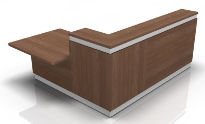 Visage Reception Desk 5 Aber Walnut