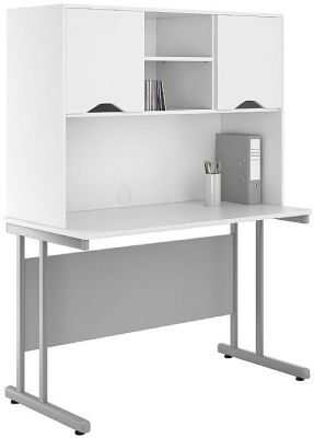 Ucl;c 1200mm Desk With Overhead White Doors