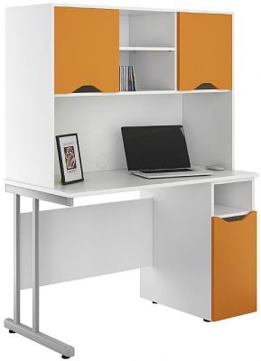 Uclic Desk With Cupboard Doors In Orange