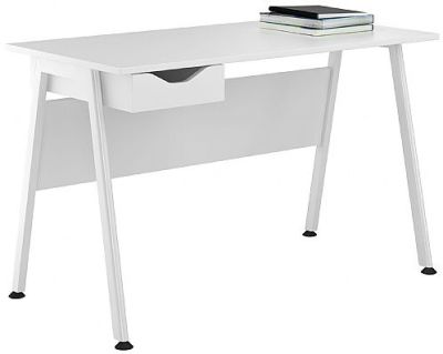 Aspire Single Desk With A White Drawer Front