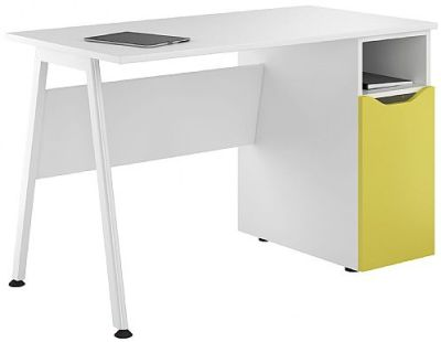 Uclic Aspire Desk With A Peach Yellow Door