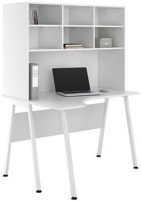 UCLIC Aspire Corner Desk With Overhead Storage Hutch