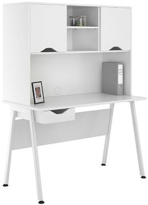 UCLIC Aspire Desk With White Doors And Drawer