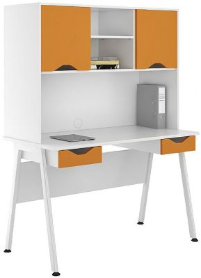 ICLIC Desk With Orange Fronts And Doors
