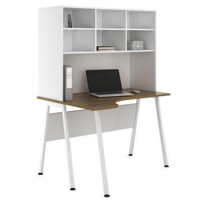 Aspire Sylvan Corner Desk And Overhead Storage 2