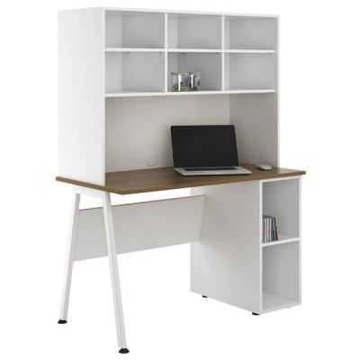 Aspire Sylvan Desk With Open Storage And Under Desk Storage A