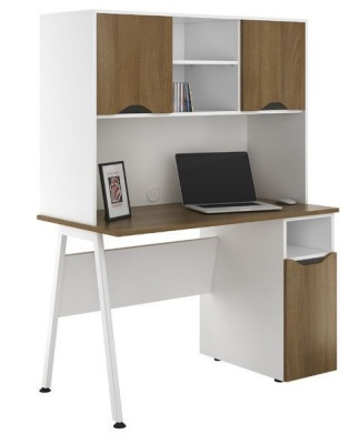 Aspre Sylvan With Overhead Cupboard And Desk Cupboard