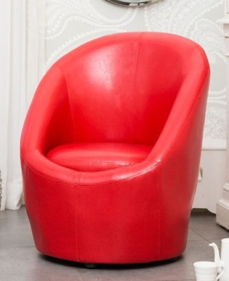 Monroe Faux Leather Tub Chair