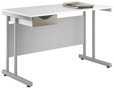 UClic Create Relections Single Drawer Desk With A Stone Drawer Front