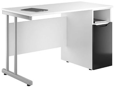 Uclic Create Desk With High Gloss Black Door