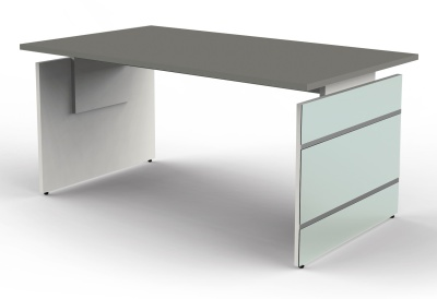 Legano Height Adjustable Executive Desk With A Graphite Top