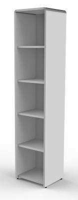 Modem Tall Slim Bookcase In Grey