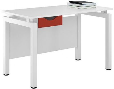 UCLIC Engage Deskl With Red Drawer Front