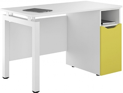 UCLIC Engage Pedestal Desk With Peach Yellow Door