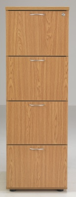 Flite Four Drawer Filing Cabinet On Oak Front Shot