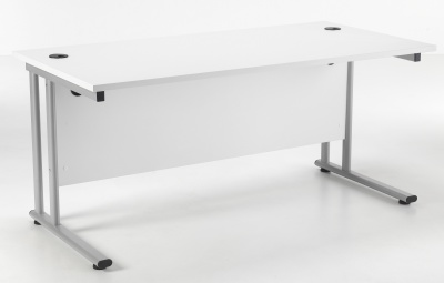 Flite Rectangular Desk In White