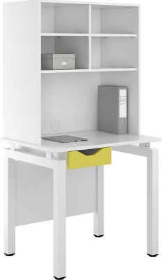 UCLIC Engage Drawer Desk And Overhead Storage Lime Green