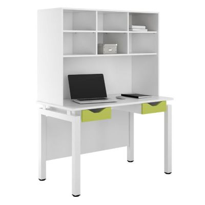UCLIC Engage Two Dawer Desk With Overhead Storage