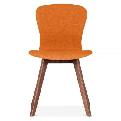 Detroit Dining Chair Front Face Orange Fabric