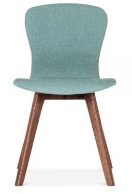 Detroit Dining Chair Teal Fabric Front Shot