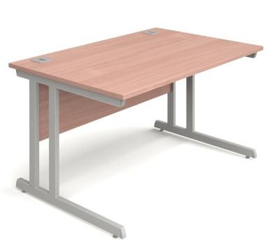 Trapido Rectangular Desk In Beech