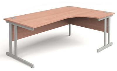Trapido Right Hand Corner Desk In Beech