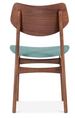 Detroit Dining Chair V2 Rear View Teal Fabric