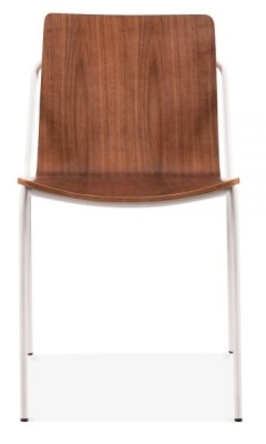 Denever Chair Walnut Shell With A White Frame Frint Shot