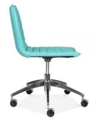 Deco Sswivel Chair In Turquoise Side View