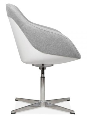 Mexico Lounge Chair Grey Fabric Side View