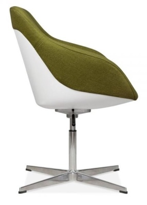 Mexico Lounge Chair Olive Fabric Side View