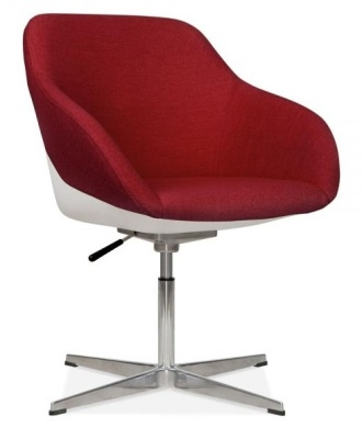 Mexico Lounge Chair Red Fabric Front Angle