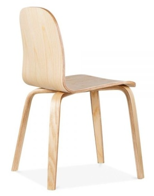 Helsinki Dining Chair Rear Angle Natural Finish